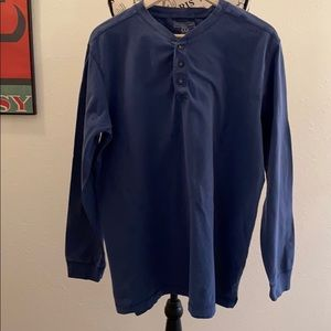 NorthCrest Classic Men's Henley Navy Large